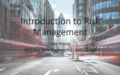 SIRACON 2019 – Intro to Risk Management