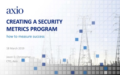 SANS ICS 2019 – Creating a Security Metrics Program