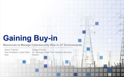 SANS ICS 2019 – Gaining Buy-In for Cybersecurity